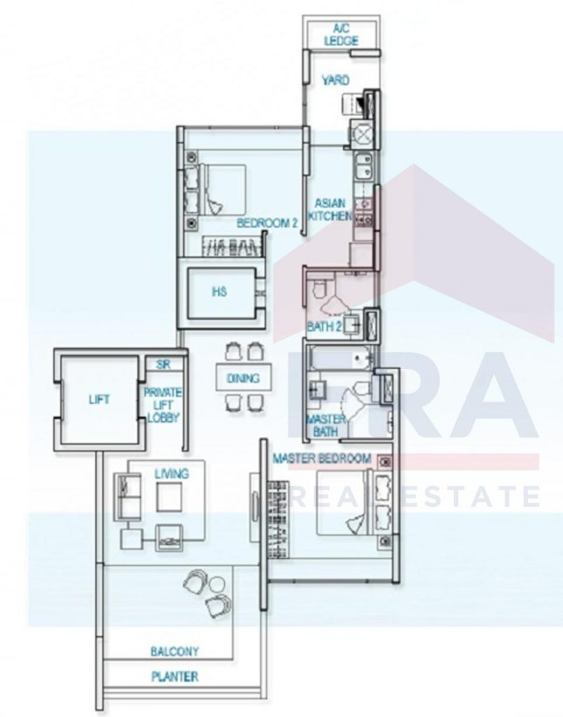 Sold Amber Residences 2 Bedrooms 2 Bathrooms Home Partners Sg